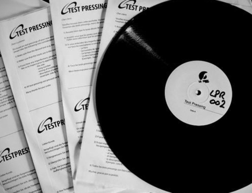 VIDEO LPR002 TEST PRESSING DONE!