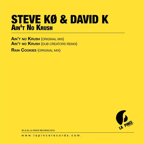 Steve Ko & David K – Ain't No Krush out now on digital stores